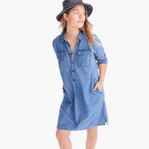 J.crew chambray long sleeve shirt dress size S